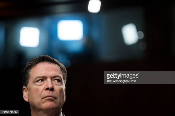 WASHINGTON DC Former FBI director James Comey testifies before the Senate Intelligence Committee on Capitol Hill in Washington DC Thursday June 8 2017