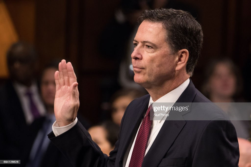 Former FBI Director James Comey Testifies on Capitol Hill : News Photo