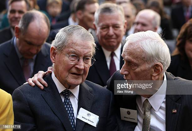 Former FBI directors William Webster , William Sessions and former Attorney General John Ashcroft attend the ceremonial swearing-in of FBI Director...
