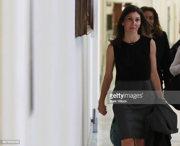 Former FBI Lawyer Lisa Page walks to a House Judiciary Committee closed door meeting in the Rayburn House Office Building, on July 13, 2018 in...