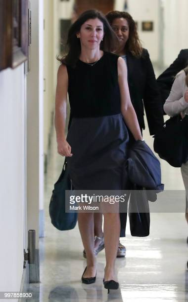 Former FBI Lawyer Lisa Page walks to a House Judiciary Committee closed door meeting in the Rayburn House Office Building on July 13 2018 in...