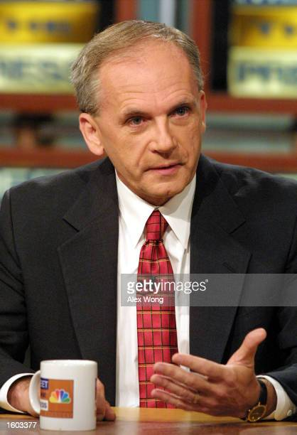 Former FBI Profiler Gregg McCrary talks about missing former intern Chandra Levy''s case July 22 2001 on NBC''s Meet the Press during a taping at the...