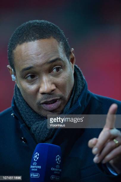 Former FC Internazionale midfielder Paul Ince working for BT Sport television media before the Group B match of the UEFA Champions League between...