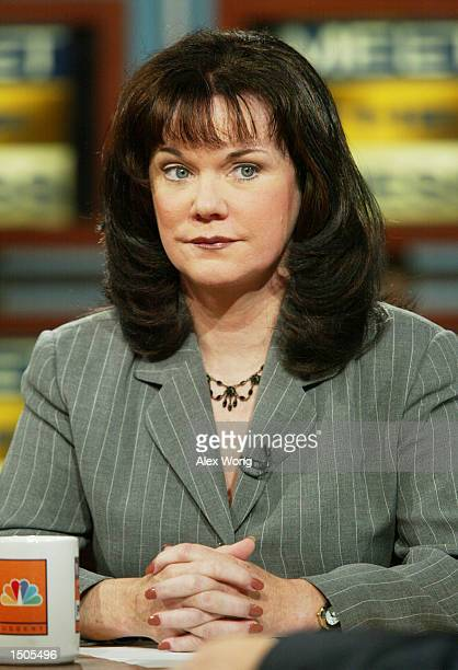 Former Federal Bureau of Investigation profiler Candice DeLong appears on 'Meet the Press' during a taping at the NBC studios October 20, 2002 in...