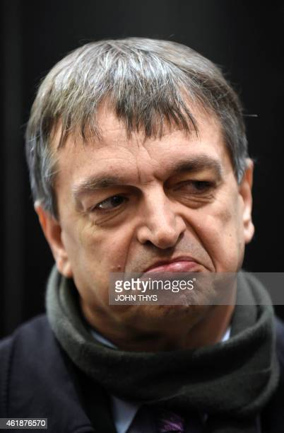 Former FIFA deputy general secretary Jerome Champagne looks on before a summit on FIFA at the European Union headquarters in Brussels on January 21...