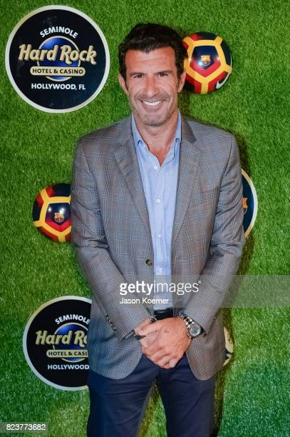 Former FIFA Player of the Year Luis Figo attends the International Champions Cup Official El Clasico Miami VIP Party with special performance by...