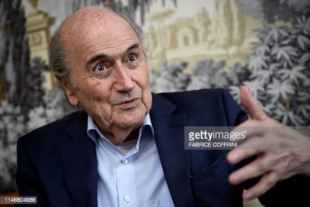 Former FIFA president Sepp Blatter looks on during an interview with AFP on May 28 2019 in Zurich Sepp Blatter has blasted his successor as FIFA head...