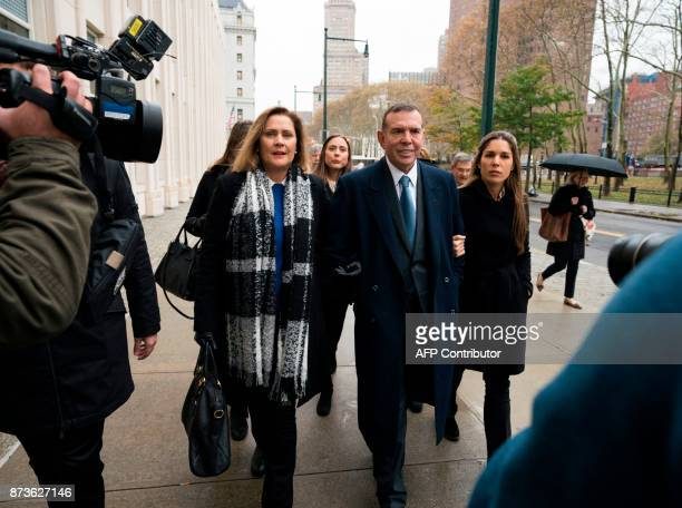 Former FIFA vice president Juan Angel Napout of Paraguay arrives November 13 2017 at Brooklyn Federal Courthouse in New York The FIFA corruption...