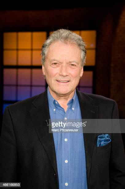 Former figure skater and actor HansJuergen Baeumler attends the Koelner Treff TV Show at the WDR Studio on January 31 2014 in Cologne Germany