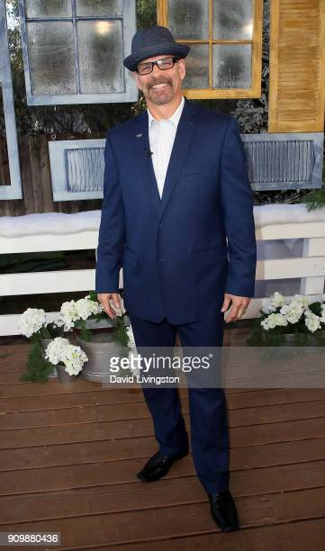 Former figure skater Lloyd Eisler visits Hallmark's Home Family at Universal Studios Hollywood on January 24 2018 in Universal City California