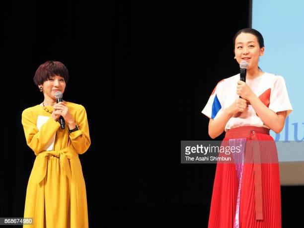 Former figure skater Mao Asada attends her DVD launch event on October 29 2017 in Tokyo Japan