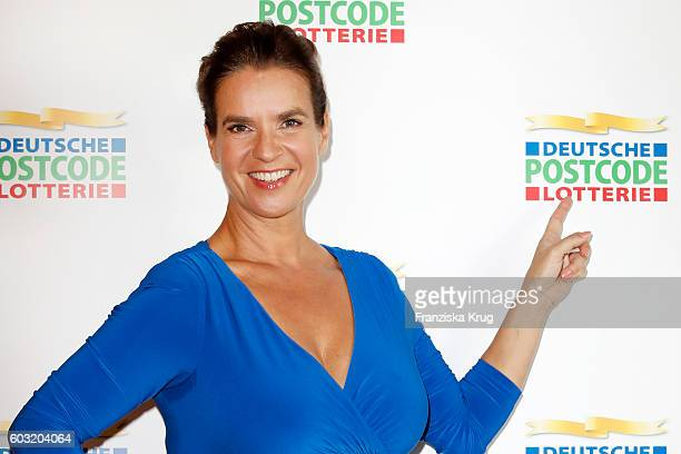 Former figure skating star and Olympic Gold medalist World and European champion Katarina Witt at the press conference where she was presented as...