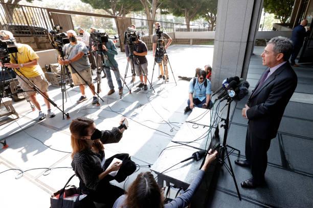 CA: General Atmosphere Outside Clara Shortridge Foltz Criminal Justice Center For Harvey Weinstein Court Arraignment