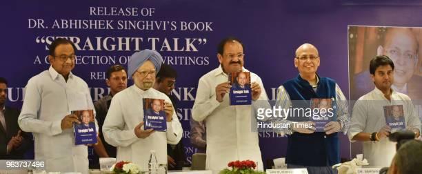 Former Finance Minister Palaniappan Chidambaram former Prime Minister Manmohan Singh Vice President of India M Venkaiah Naidu and Congress leaders...