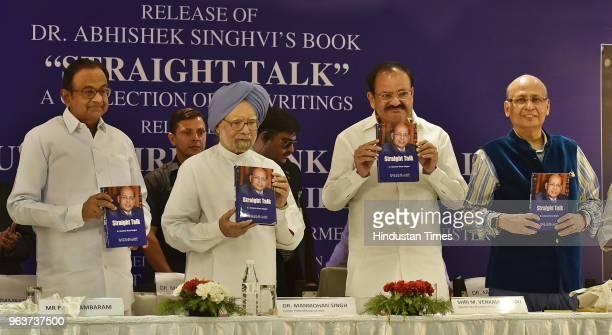 Former Finance Minister Palaniappan Chidambaram former Prime Minister Manmohan Singh Vice President of India M Venkaiah Naidu and Congress leader...