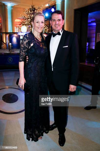 Former firs lady Bettina Wulff and her partner Jan-Henrik Behnken during the Audi Generation Award 2019 at Hotel Bayerischer Hof on December 4, 2019...