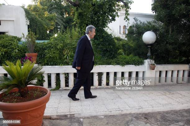 Former first Algerian President Ahmed Ben Bella portrait on June 9 2011 in Algiers Algeria Ahmed Ben Bella was the first president of Algeria he died...