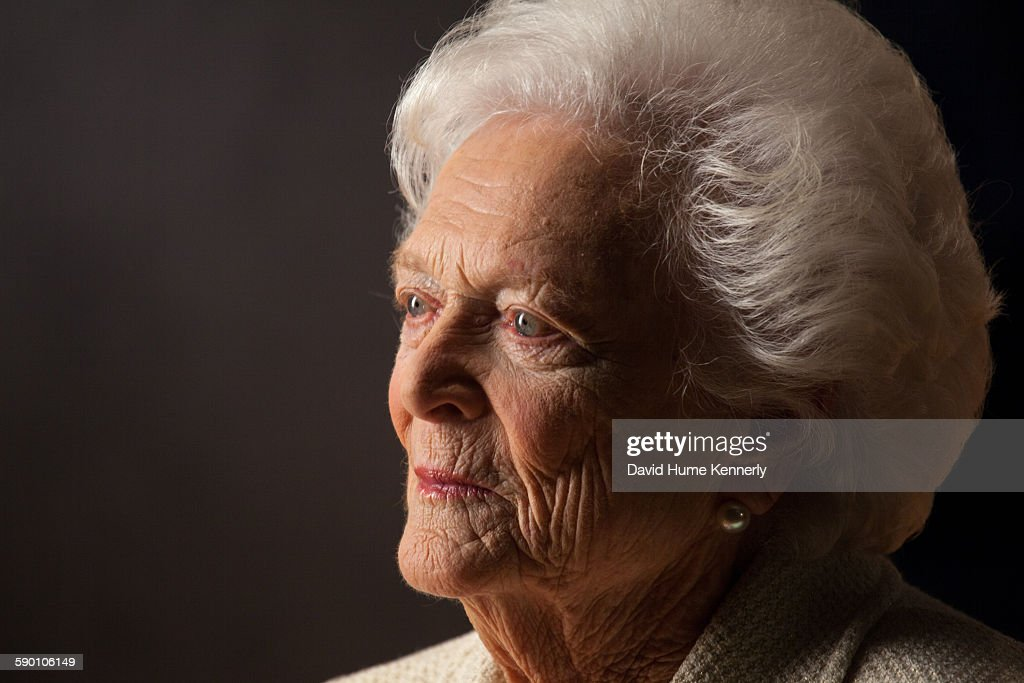 """Former First Lady Barbara Bush at the Bush Library for """"The Presidents' Gatekeepers"""" : News Photo"""