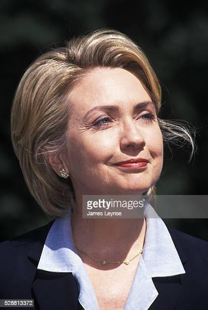 Former First Lady Hillary Clinton begins her listening tour in New York State aspiring to the New York State Senate seat vacated by Daniel Moynihan