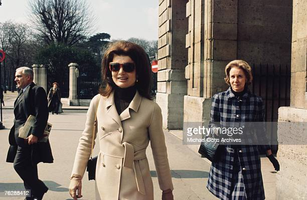 Former First Lady Jacqueline Kennedy visits Paris circa the late1960s