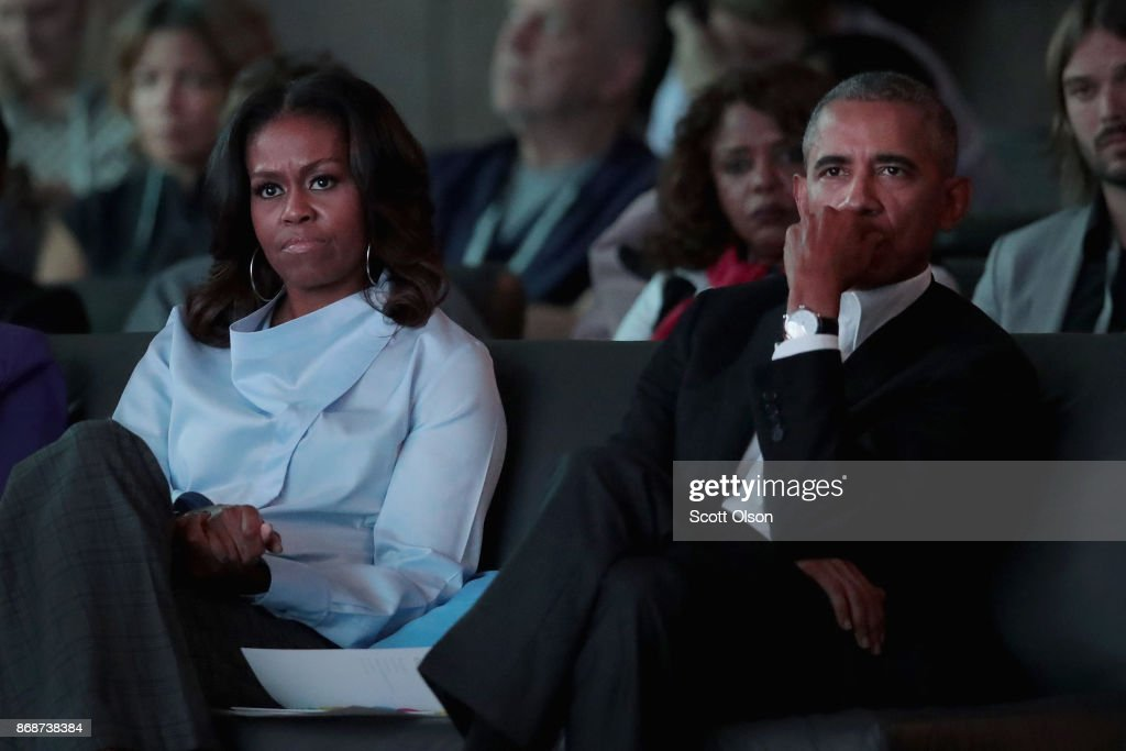 Former President Obama And First Lady Michelle Host Inaugural Obama Foundation Summit In Chicago : News Photo