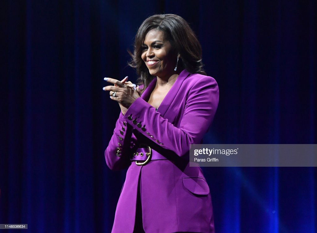 Becoming: An Intimate Conversation with Michelle Obama : News Photo