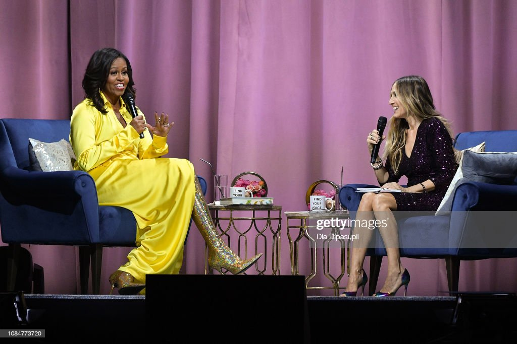 "Michelle Obama Discusses Her New Book ""Becoming"" With Sarah Jessica Parker : News Photo"
