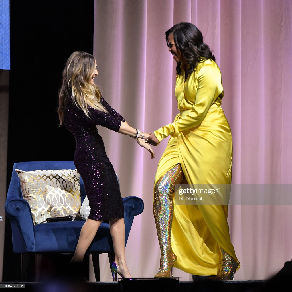 Michelle Obama Discusses Her New Book 'Becoming' With Sarah Jessica Parker : News Photo