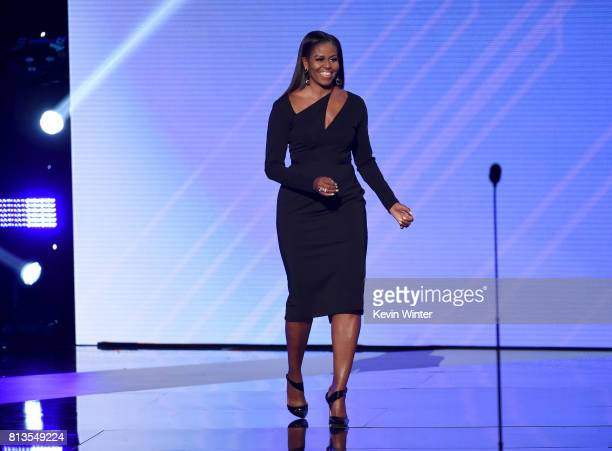 Former First Lady Michelle Obama speaks onstage at The 2017 ESPYS at Microsoft Theater on July 12 2017 in Los Angeles California