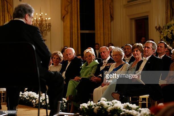 Former First Lady Nancy Reagan, Vice President Dick Cheney, his wife Lynn Cheney, Royal Highness Prince Philip, the Duke of Edinburgh, Her Majesty...