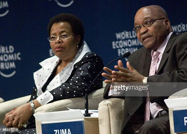 Former First Lady of Mozambique and Human Rights activist Graca Machel listens while South Afican President Jacob Zuma makes a point in the final...