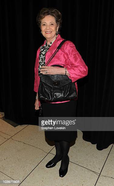 Former first lady of New York state Matilda Cuomo attends the FIT Couture Council's Annual Luncheon at Avery Fisher Hall at Lincoln Center for the...