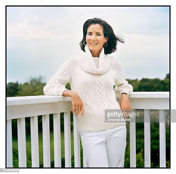 Former first lady of South Carolina/exwife of Governor Mark Sanford Jenny Sanford poses for Vogue Magazine at home on June 25 2009 in Sullivan's...