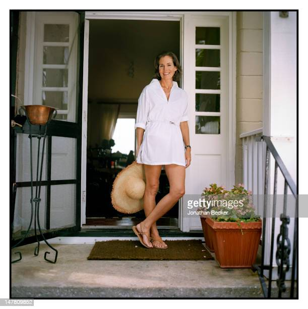 Former first lady of South Carolina/ex-wife of Governor Mark Sanford, Jenny Sanford poses for Vogue Magazine at home on June 25, 2009 in Sullivan's...