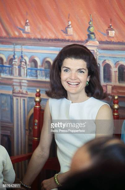 Former First Lady of the United States Jacqueline Kennedy pictured during a visit to the 'Feria de Sevilla' in Seville Spain in April 1966
