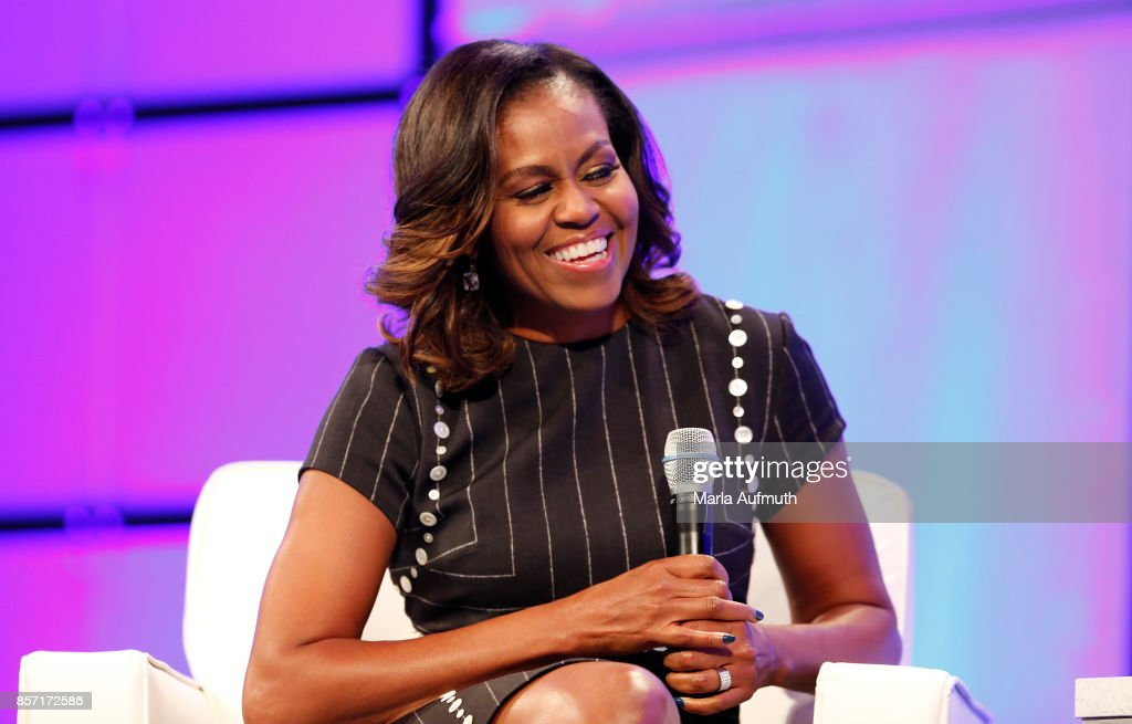 Former First Lady of the United States Michelle Obama speaks during Pennsylvania Conference For Women 2017 at Pennsylvania Convention Center on October 3, 2017 in Philadelphia, Pennsylvania.