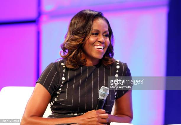 Former First Lady of the United States Michelle Obama speaks during Pennsylvania Conference For Women 2017 at Pennsylvania Convention Center on...