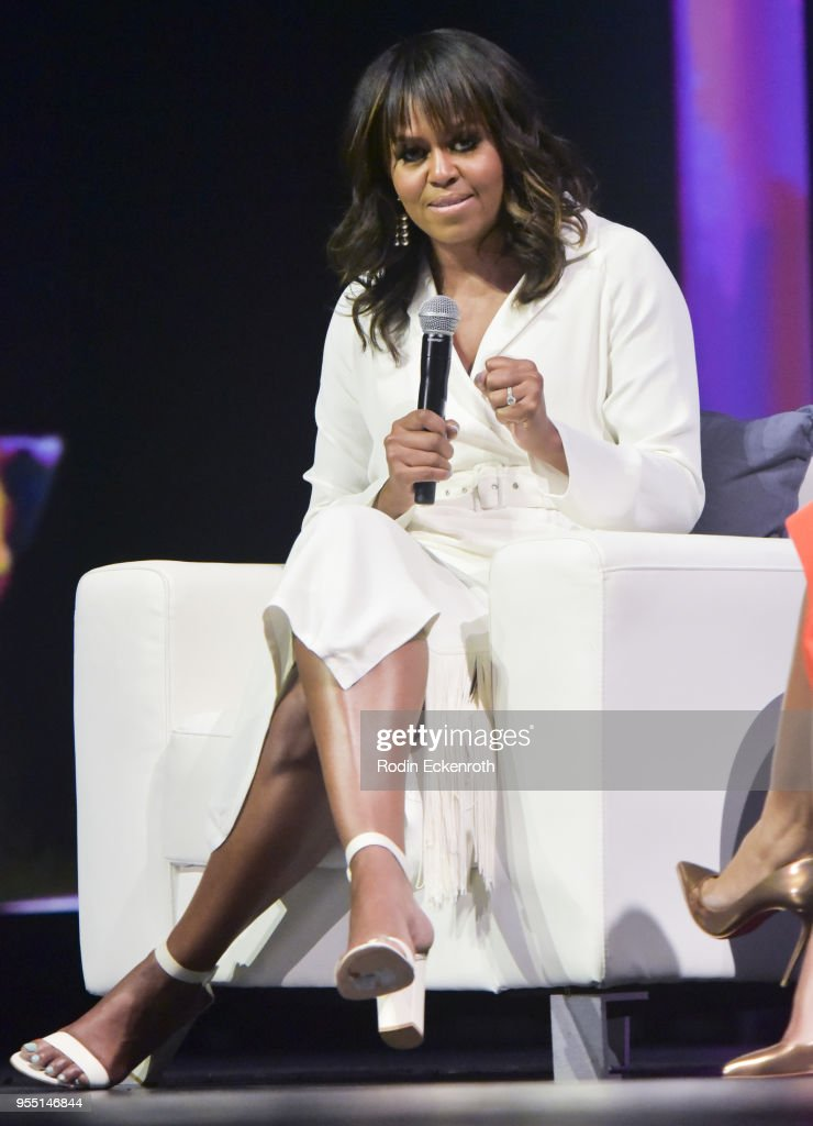 Former First Lady of The United States Michelle Obama speaks on stage at The United State of Women Summit 2018 - Day 1 on May 5, 2018 in Los Angeles, California.