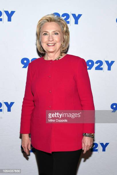 Former First Lady of the United States/United States Secretary of State Hillary Rodham Clinton poses for a photos at In Conversation With Kara...