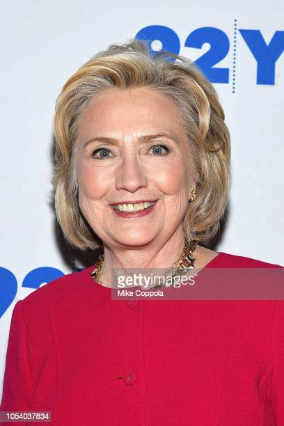 "Former First Lady of the United States/United States Secretary of State Hillary Rodham Clinton poses for a photos at ""In Conversation With Kara..."