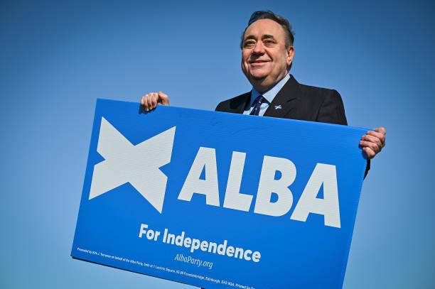 GBR: Alba Party Leader Alex Salmond Campaigns On Calton Hill