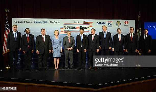 Former Florida Gov Jeb Bush Dr Ben Carson New Jersey Gov Chris Christie former CEO HewlettPackard Carly Fiorina US Senator Lindsey Graham Louisiana...