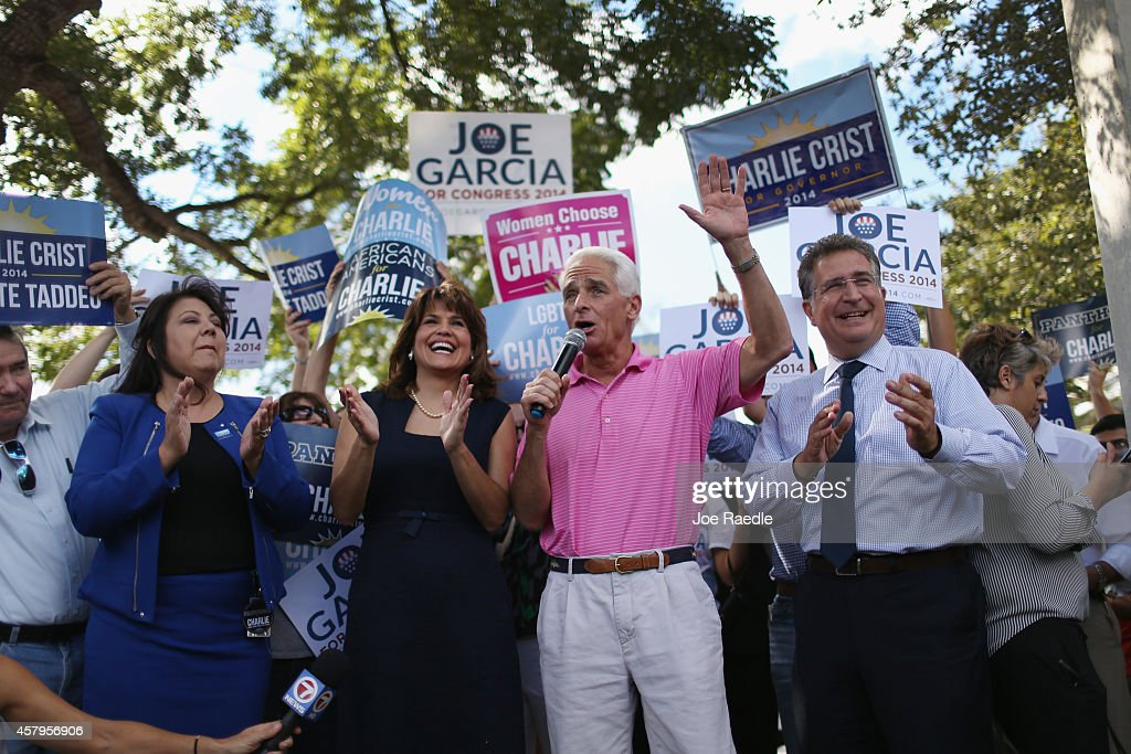 Florida Gubernatorial Candidate Charlie Crist Attends Early Voting Event In Miami