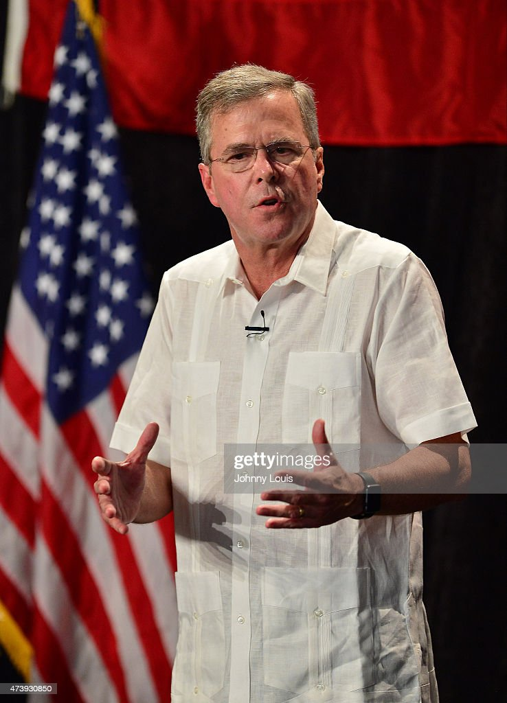 Jeb Bush Attends Fundraiser In Sweetwater, Florida