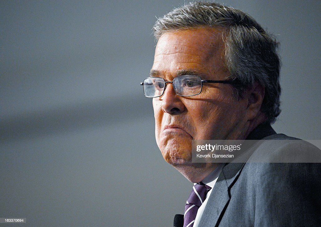 Jeb Bush Speaks At The Reagan Library About His New Book : News Photo