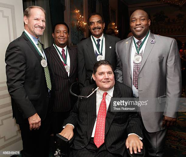 Former football coach Bill Cowher former baseball player Pedro Martinez former football player Calvin Hill President of the Buoniconti Fund Marc...