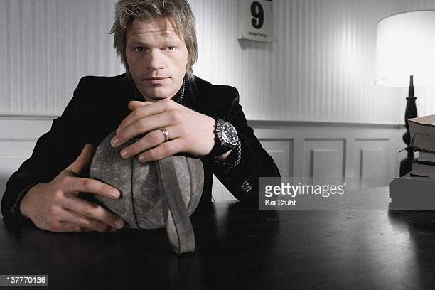 Former football goalkeeper Oliver Kahn is photographed on December 1 2005 in Munich Germany