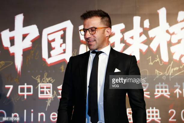 Former football player Alessandro Del Piero attends Chinese Footballer of The Year Awards on December 24 2017 in Guangzhou China