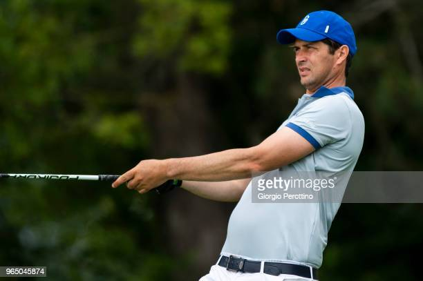 Former football player Alessio Tacchinardi during the Fondazione Vialli Mauro ProAm Golf Cup on May 28 2018 in Capriate d'Orba Alessandria Italy