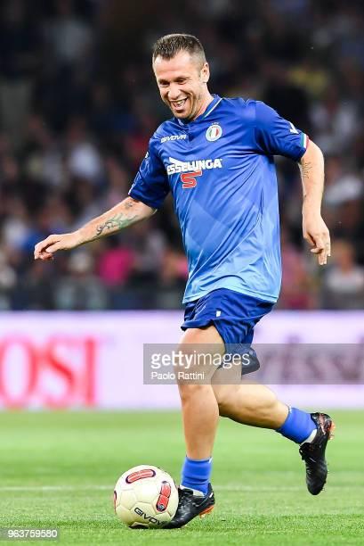 Former football player Antonio Cassano during the 'Partita Del Cuore' Charity Match at Stadio Luigi Ferraris on May 30 2018 in Genoa Italy
